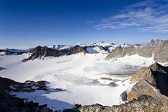Stock Photo of view during the ascent to the peak of hoher angulus mountain, ortler region,