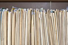 old files, archive - stock photo