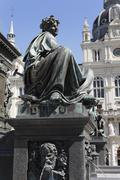 archduke johann fountain, allegorical representation of the river drau, haupt - stock photo