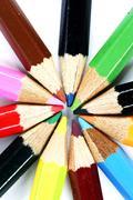 close-up pencil. - stock photo