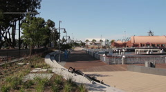 Port of Los Angeles Downtown Harbor Stock Footage