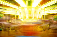 Stock Photo of merry-go-round in motion blur