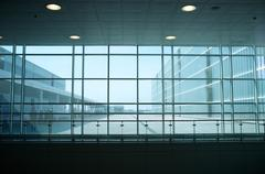 inside of modern building. - stock photo