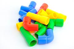 Colorful pipe toy for child Stock Photos