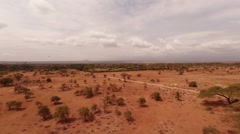 Aerial shot of Savanna from a height of 10 meters. Stock Footage