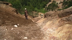 Stone Quarry in Uganda, Africa Stock Footage