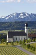 Stock Photo of pilgrimage church of st. marinus and anian in wilparting, community of irsche