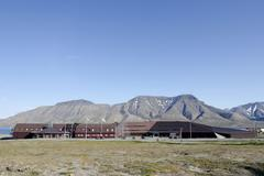 Unis, university centre in svalbard, svalbard museum and tourist bureau, in f Stock Photos