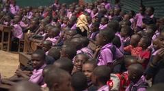 African School Children Applauding in Kabale, Uganda Stock Footage