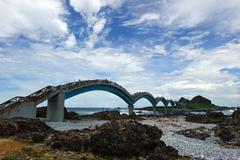Bridge at chike mountain, taiwan, china, asia Stock Photos