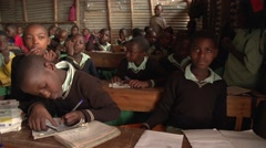 African School Children Writing in Kabale, Uganda - stock footage