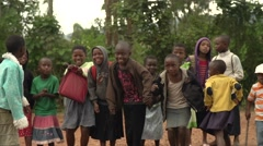 African Children from Batwa Tribe Dancing in Uganda, Africa Stock Footage