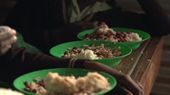 African Children Eating, Uganda - stock footage