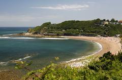 Beach, atlantic coast near saint-jean-de-luz, donibane lohizune in basque, aq Stock Photos