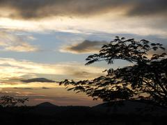 Stock Photo of evening sky at dusk in ricòn de la vieja national park, province of guanacas