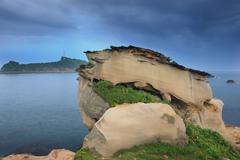 yehliu geopark in taipei, taiwan, china, asia - stock photo