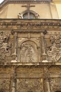 Stock Photo of Lviv, bas-relief on the wall of the church