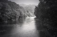 Stock Photo of a mountain river Tisza