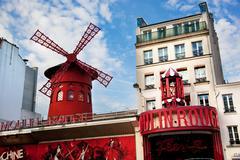 Moulin rouge cabaret. paris, france. Stock Photos