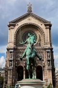 Jeanne d'arc statue, paris france Stock Photos
