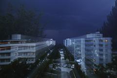 Stock Photo of thunderstorm, zoom burst effect, mittelberg, biberach, upper swabia, baden-wu