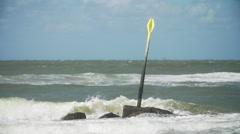 Wave breaker in slowmotion Stock Footage