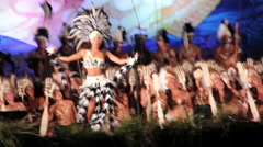 Dance at the Tapati festival Easter Island, Rapa Nui Stock Footage