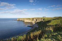 Cliff, brough bay near dunnet head peninsula, caithness county, scotland, uni Stock Photos