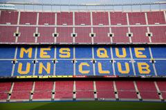 The camp nou stadium in barcelona, spain Stock Photos