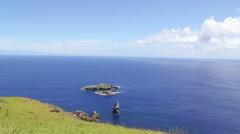 Motu Iti and Motu NuiEaster Island, Rapa Nui Stock Footage
