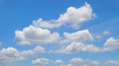 Time lapse moving clouds - stock footage