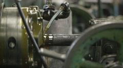 "MS Threader Machine Threading 3"" Steel Rod Side Angle Stock Footage"