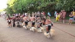 Parade Tapati festival Easter Island, Rapa Nui Stock Footage