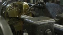 MS Threader Machine Threading Steel Rod Stock Footage