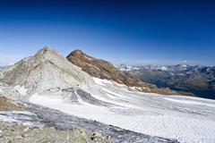 fernerkoepfl mountain and schneebige nock mountain, alto adige, italy, europe - stock photo