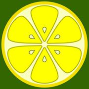 Lemon segment Stock Illustration