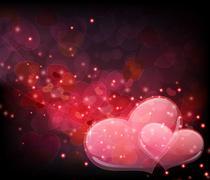 Transparent hearts Stock Illustration