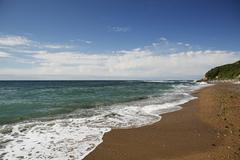 Beach, atlantic coast near saint-jean-de-luz, aquitaine region, pyrénées-at Stock Photos