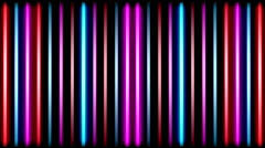 Abstract flashing neon lamps Stock Footage