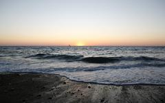 Sunset, atlantic coast near saint-jean-de-luz, donibane lohizune in basque, a Stock Photos