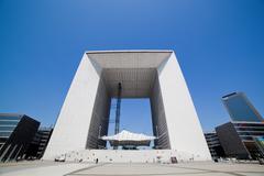 La grande arch in la defense business district, paris, france Stock Photos