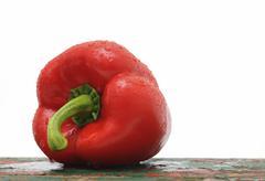 red capsicum - stock photo