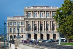 Hungarian academy of sciences. budapest, hungary Stock Photos