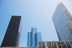 Business skyscrapers. la defense, paris, france Stock Photos