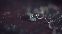 Goldsmith diamond on table - stock footage