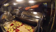 People Serving at Buffet Stock Footage