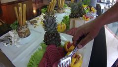 Buffet Breakfast Line Stock Footage