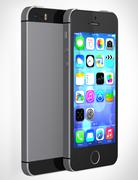 Apple iphone 5s showing the home screen with ios7 - stock illustration