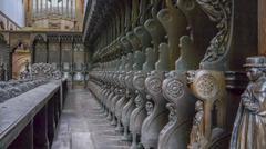 Monastery Maulbronn Germany Choir Stall - stock photo