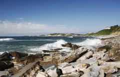 Atlantic coast near saint-jean-de-luz, aquitaine, département pyrénées-atl Stock Photos